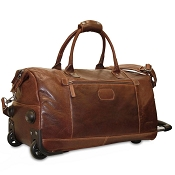 Jack Georges Voyager Leather Wheeled Duffle Bag #7520