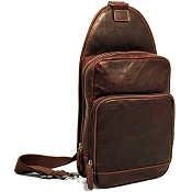 Jack Georges Voyager Leather Sling Bag #7582