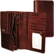 Jack Georges Voyager Leather Continental Wallet #7722