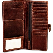 Jack Georges Voyager Leather Travel Wallet #7729