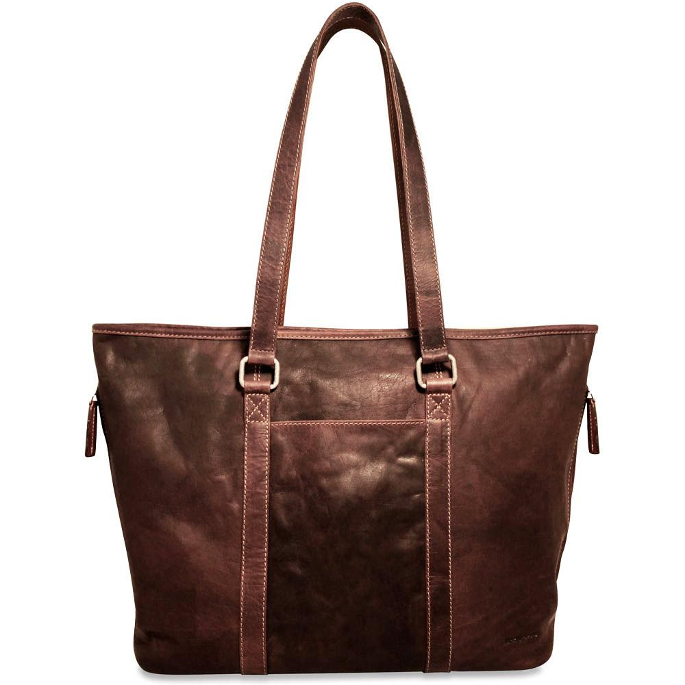 35e1b498ded4 Jack Georges Voyager Leather Shopper Tote Bag #7803