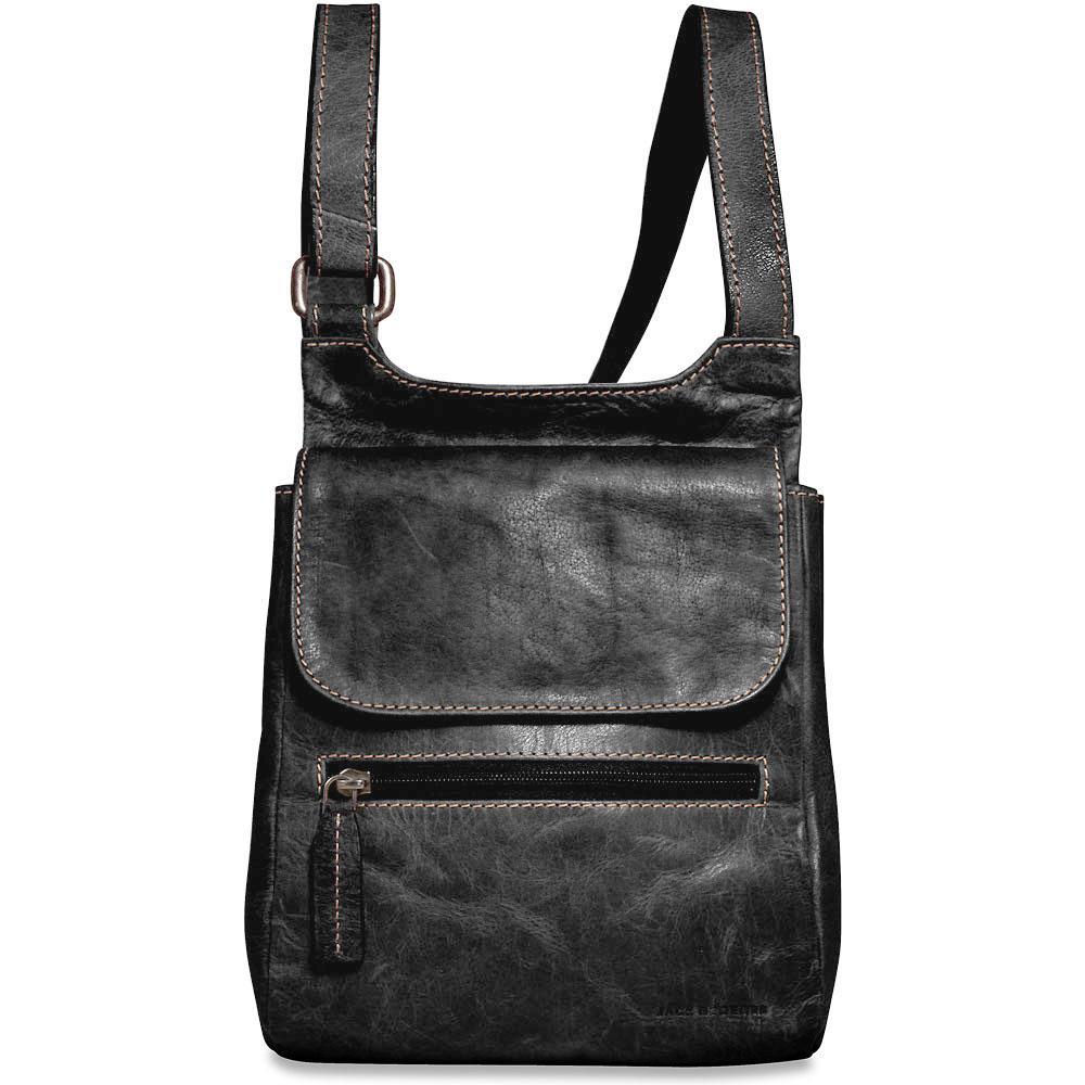 Jack Georges Voyager Leather Slim Crossbody Messenger Bag