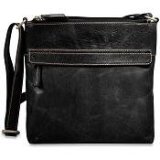 Jack Georges Voyager Leather Top Zip Crossbody Bag #7832