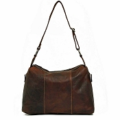 Jack Georges Voyager Leather Hobo Shoulder Bag #7833