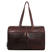 Jack Georges Voyager Uptown Leather Duffle Bag #7918