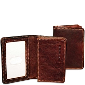 Jack Georges Voyager Leather Business Card Holder #7306