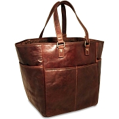 Jack Georges Voyager Leather Picnic Bag / Shopping Tote #7514