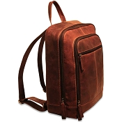 Jack Georges Voyager Leather Laptop Backpack #7516