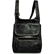 Jack Georges Voyager Leather Slim Crossbody Messenger Bag #7831