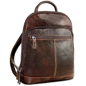 Jack Georges Voyager Leather #7835 Small Backpack