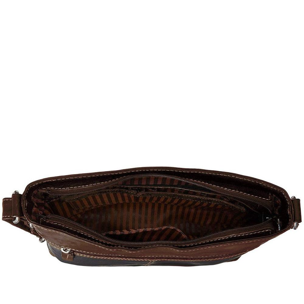 Jack Georges Voyager Crossbody Bag  7312 with Top Zip closure in vegetable  re-tanned buffalo leather. 2d4c17dbfe