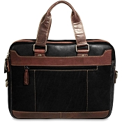 Jack Georges Voyager Two-Tone Leather Slim Briefcase #TT7320