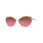 Helios 10730S Cal.53 Brown Marble Butterfly Sunglasses - Faded Brown Lens