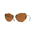 Helios 10730S Cal.53 Brown Havana Butterfly Sunglasses - Brown Lens