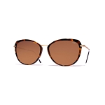 Helios 10731S Cal.54 Havana & Gold Butterfly Sunglasses - Brown Lens