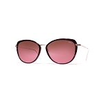 Helios 10731S Cal.54 Amaranth & Gold Butterfly Sunglasses - Faded Cherry Lens
