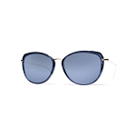 Helios 10731S Cal.54 Blue & Gold Butterfly Sunglasses - Blue Lens
