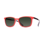 Helios 04481S Cal.53 Rectangle Red Sunglasses - Grey Lens
