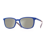 Helios 04481S Cal.53 Rectangle Light Blue Sunglasses - Mirrored Lens