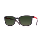 Helios 04481S Cal.53 Rectangle Grey & Red Sunglasses - Grey Lens