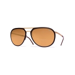 Helios 10542S Cal.57 Pilot Dark Brown Sunglasses - Brown Lens