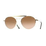 Helios 10675S Cal.53 Pilot Gold & Horn Sunglasses -  Faded Brown Lens