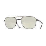 Helios 10676S Cal.55 Pilot Rectangular Grey Sunglasses -  Mirrored Silver Lens