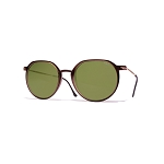Helios 04931S Cal.49 Brown Pantos Sunglasses - Green Lens