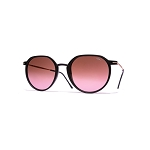 Helios 04931S Cal.49 Matt Black Pantos Sunglasses - Rose Gradient Lens