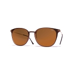 Helios 04932S Cal.50 Brown Rectangle Sunglasses - Brown Lens