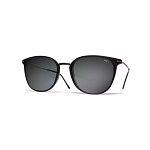 Helios 04932S Cal.50 Black Rectangle Sunglasses - Grey Lens