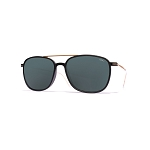 Helios 04935S Cal.54 Black Square Sunglasses - Grey Lens