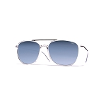 Helios 04935S Cal.54 Transparent Square Sunglasses - Blue Gradient Lens