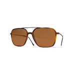 Helios 04936S Cal.57 Havana Rectangle Sunglasses - Brown Lens