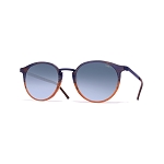 Helios 10517S Cal.49 Pantos Blue & Brown Havana Sunglasses - Blue Faded Lens