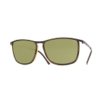 Helios 10654S Cal.55 Rectangular Havana & Yellow Sunglasses - Green Lens