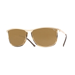Helios 10654S Cal.55 Rectangular Havana & Gold Sunglasses - Brown Lens