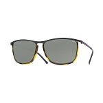 Helios 10654S Cal.55 Rectangular Yellow Havana Sunglasses - Grey Lens
