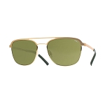 Helios 10656S Cal.53 Pantos Sunglasses - Gold Metal - Green Lens