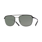 Helios 10656S Cal.53 Pantos Sunglasses - Matt Black Metal - Grey Lens