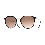 Helios 10670S Cal.49 Pantos Black & Gold Sunglasses - Rose Gradient Lens