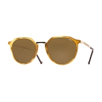 Helios 10670S Cal.49 Pantos Light Havana & Gold Sunglasses - Brown Lens