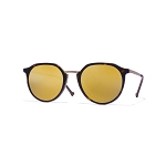 Helios 10670S Cal.49 Pantos Dark Havana Sunglasses - Brown Mirror Gold Lens