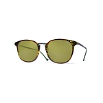 Helios 10671S Cal.50 Rectangular Green Havana Sunglasses - Green Lens