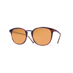 Helios 10671S Cal.50 Rectangular Purple Blue Havana Sunglasses - Brown Lens