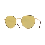 Helios 10677S Cal.50 Gold & Havana Sunglasses -  Mirrored Gold Lens