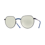 Helios 10677S Cal.50 Gold & Blue Sunglasses -  Mirrored Silver Lens