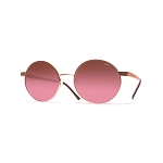 Helios 10634S Cal.52 Women's Gold Round Sunglasses - Rose Gradient Lens