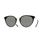 Helios 10672S Cal.51 Black/Gold Cat Eye Sunglasses - Grey Lens