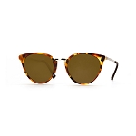 Helios 10672S Cal.51 Red Havana Cat Eye Sunglasses - Brown Lens
